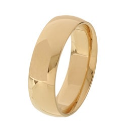 10k Yellow Gold Women's Comfort Fit 6-mm Wedding Band