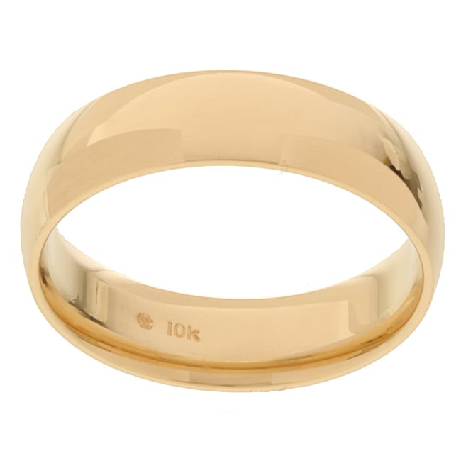 10k Yellow Gold Men's Comfort Fit 6-mm Wedding Band