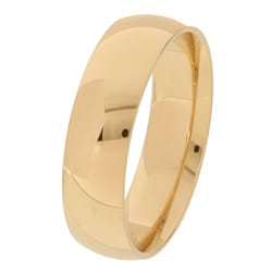 10k Yellow Gold Men's Comfort Fit 6-mm Wedding Band - Thumbnail 1