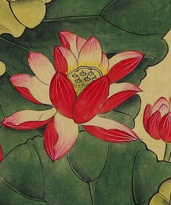 Shop Lotus Flower Chinese Art Wall Scroll Painting Free Shipping