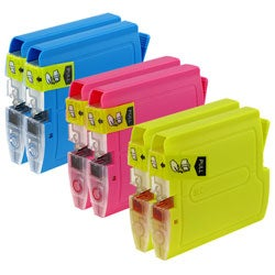 Refilled Insten Cyan Non-OEM Ink Cartridge Replacement for Brother LC51C