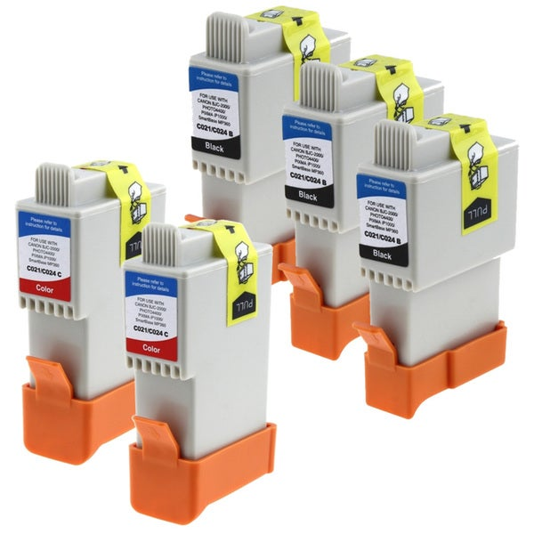 Insten Black Non-OEM Ink Cartridge Replacement for Canon BCI-24bk/ BCI-21bk/ 24/ 21 BK