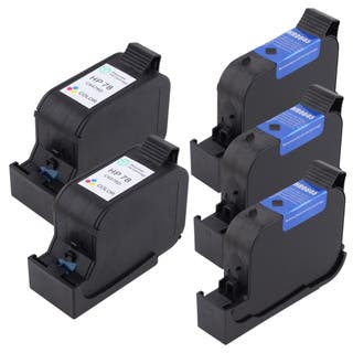 Insten Black Remanufactured Ink Cartridge Replacement for HP 51645A/ 45|https://ak1.ostkcdn.com/images/products/2667587/2667587/HP-45-78-Deluxe-Ink-Set-51645A-C6578DN-5-pack-Refurbished-P10865173.jpg?impolicy=medium