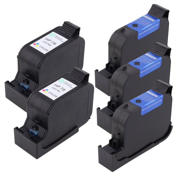 INSTEN HP 45 / 78 Deluxe Ink Set 51645A / C6578DN 5-pack (Refurbished)