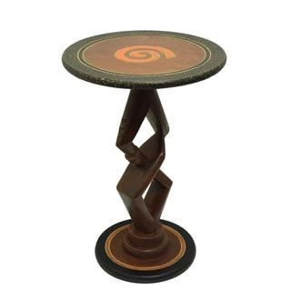 Handmade Handcrafted 'Partners' End Table (Ghana)