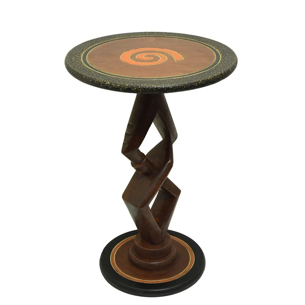 Handcrafted 'Partners' Accent Table (Ghana)