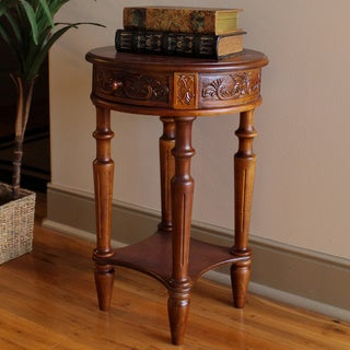 International Caravan Windsor Carved End Table