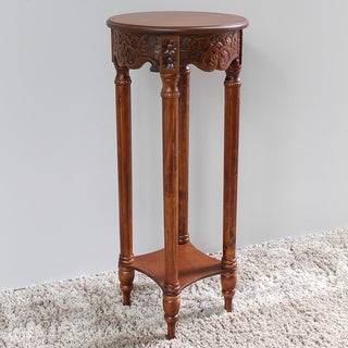 International Caravan Windsor Hand-carved Tall Indoor Table
