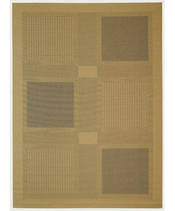 Safavieh Lakeview Natural/ Blue Indoor/ Outdoor Rug - 8' x 11' - Thumbnail 0
