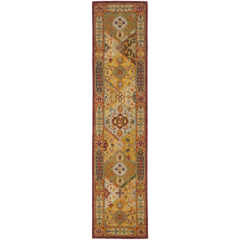 "Safavieh Handmade Heritage Traditional Bakhtiari Multi/ Red Wool Runner (2'3 x 8') - 2'3"" x 8'"