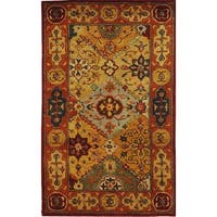 Safavieh Handmade Heritage Traditional Bakhtiari Multi/ Red Wool Rug - 3' x 5'