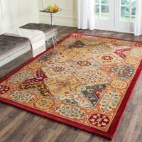 "Safavieh Handmade Heritage Traditional Bakhtiari Multi/ Red Wool Rug - 7'6"" x 9'6"""