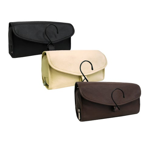 Amerileather All-leather Toiletry Bag Travel Kit (10' x 3.5' x 19')