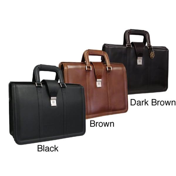 Amerileather Litigator Leather Executive Briefcase