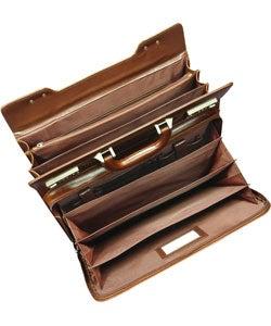 Amerileather Classic Executive Attache Briefcase (12.5' x 6' x 16') - Thumbnail 2