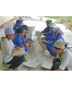 Bamboo Pedestal Bowl (Vietnam) - Thumbnail 2