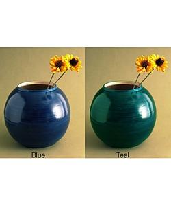 Bamboo Round Red Vase (Vietnam) - Thumbnail 1