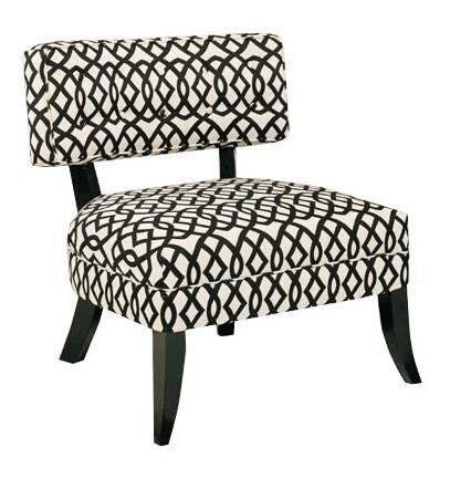 Shop Jar Designs Lucy Black White Accent Chair Free