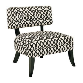 JAR Designs Lucy Black/ White Accent Chair