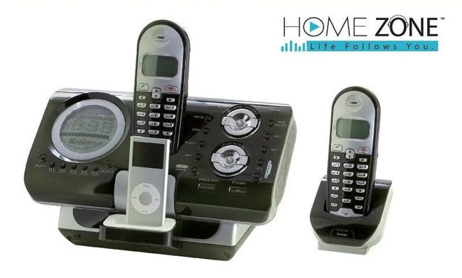 Home Zone iPod Docking Station and Phone Center