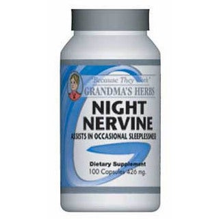 Grandma's Herbs Night Nervine 426mg Supplement (100 Capsules)