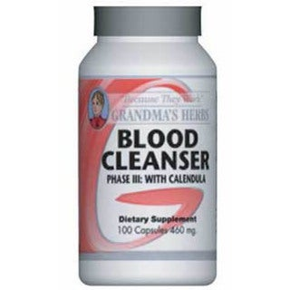Grandma's Herbs 460mg Blood Cleaner Phase III with Calendula (100 Capsules)