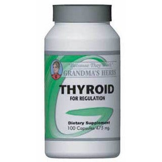Grandma's Herbs 475mg Thyroid Supplement (100 Capsules)