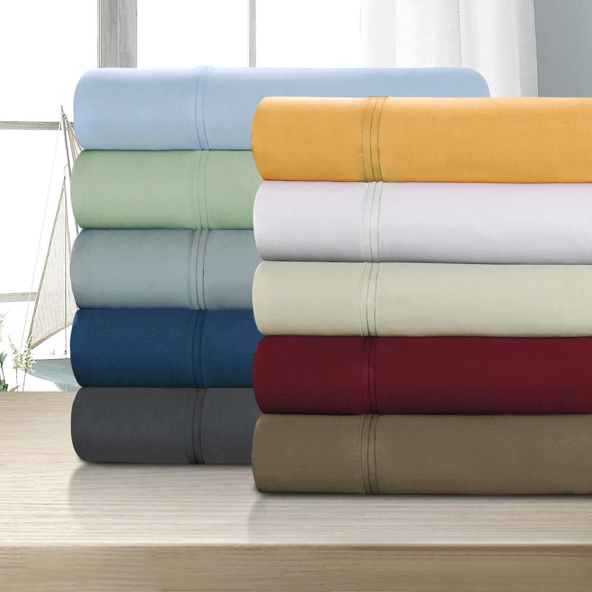 Superior Egyptian Cotton 1200 Thread Count Solid Deep Poc...