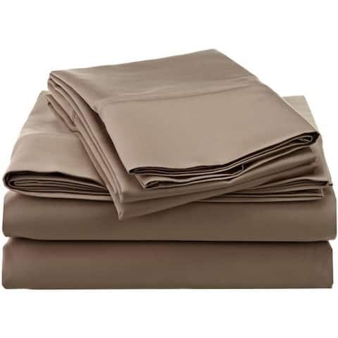 Superior Dawkins 1200-Thread Count Egyptian Cotton Solid Sheet Set