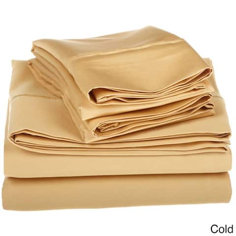 Miranda Haus Dawkins Egyptian Cotton Solid Deep Pocket Sheet Set