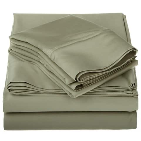 Miranda Haus Dawkins Egyptian Cotton Solid Deep Pocket Sheet Set