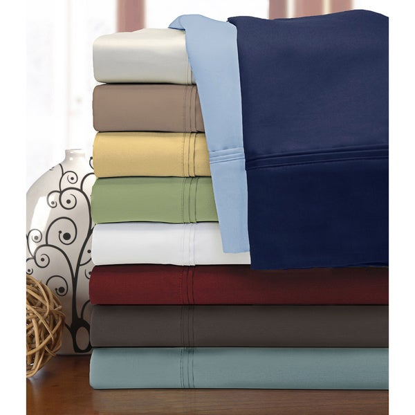 Superior Cotton 1200 Thread Count Solid Deep Pocket Sheet Set