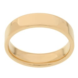 10k Yellow Gold Men's Flat 5-mm Wedding Band