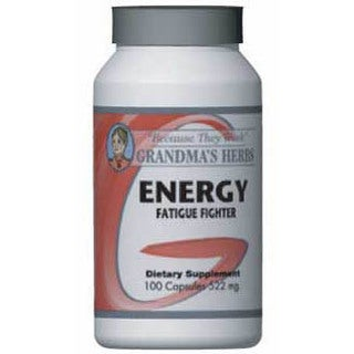 Grandma's Herbs Energy Fatigue Fighter Supplement (100 Capsules)