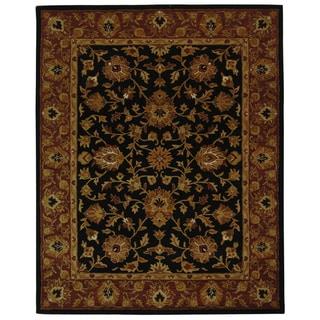Safavieh Handmade Heritage Traditional Kerman Black/ Peach Wool Rug (9'6 x 13'6)