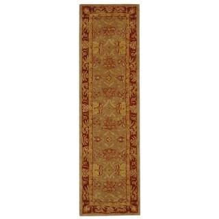 Safavieh Handmade Anatolia Oriental Traditional Grey/ Rust Hand-spun Wool Runner (2'3 x 8')