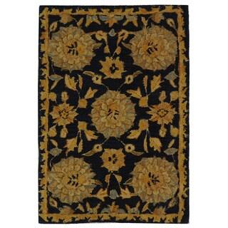 Safavieh Handmade Medallions Navy Wool Rug (2' x 3')
