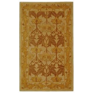 Safavieh Handmade Anatolia Oriental Traditional Beige/ Gold Hand-spun Wool Rug (3' x 5')