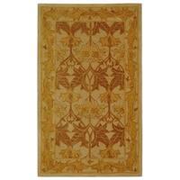 Safavieh Handmade Anatolia Oriental Traditional Beige/ Gold Hand-spun Wool Rug - 3' x 5'