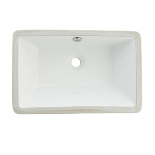 Castillo Undermount White Lavatory Sink