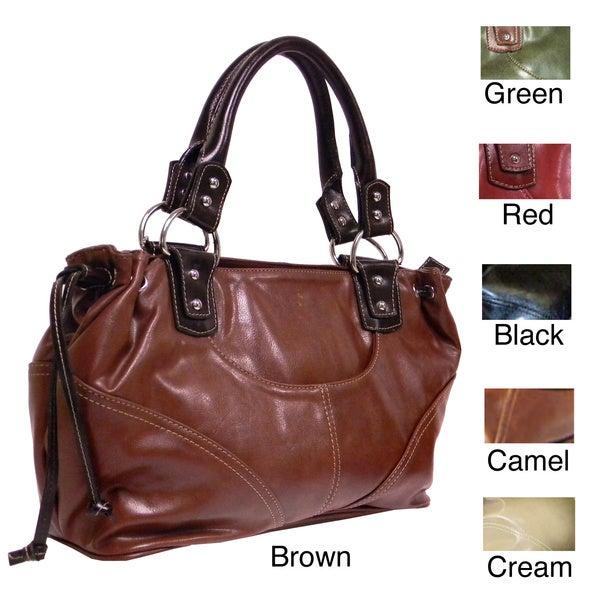 a2942d8498ab Shop Rina Rich Rodeo Satchel - Free Shipping Today - Overstock.com ...