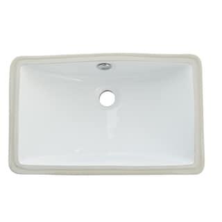 Courtyard White Undermount Lavatory Sink