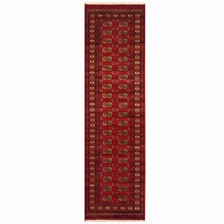 Pakistani Hand-knotted Red/ Ivory Bokhara Wool Runner (2'6 x 10')|https://ak1.ostkcdn.com/images/products/2677738/P10873303.jpg?impolicy=medium