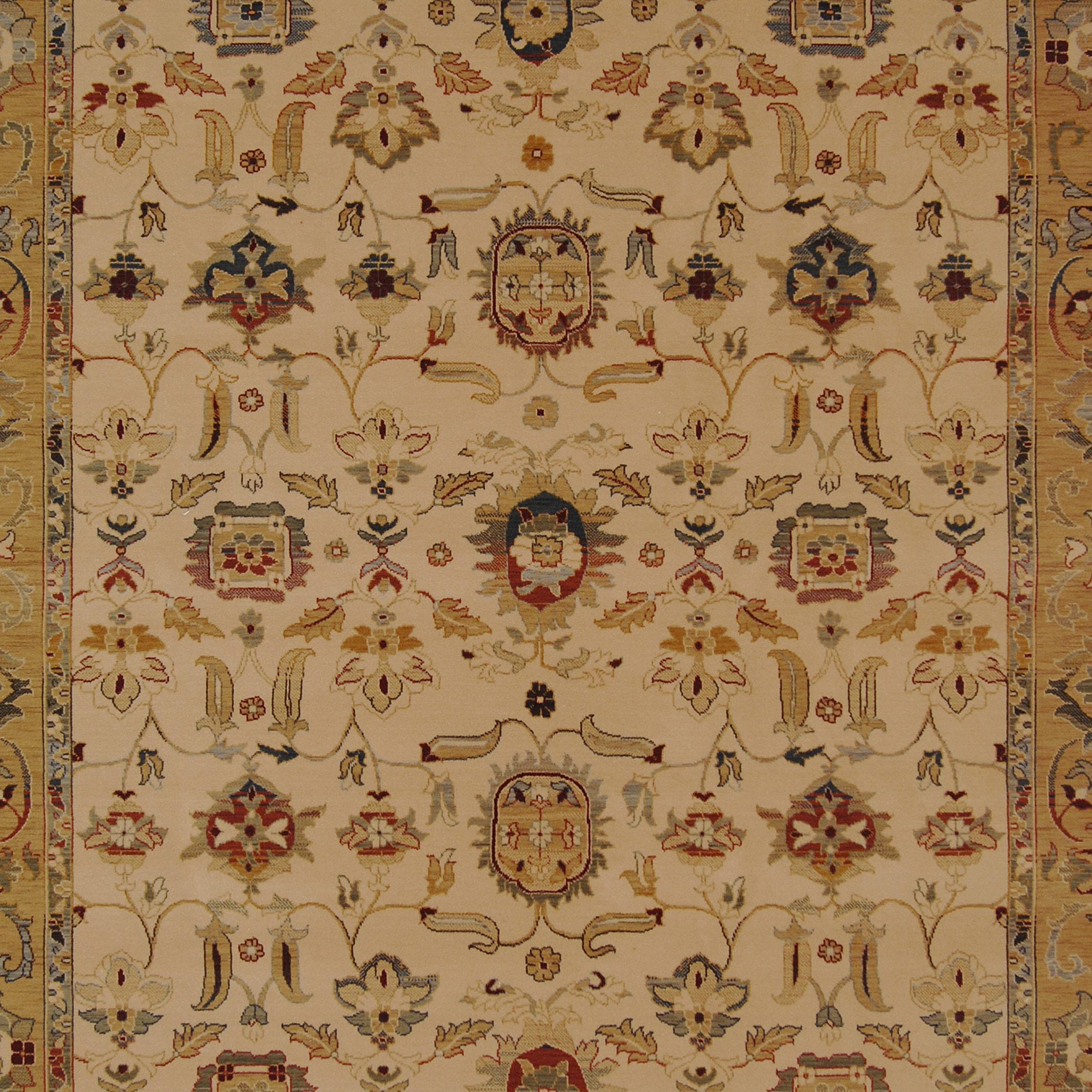 Safavieh Handmade Oushak Ivory/ Gold New Zealand Wool Rug (9' x 12')