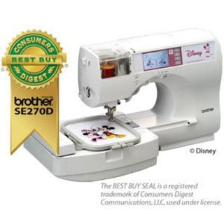 Brother Se270 Disney Embroidery Machine With Free Instructional Cd Refurbished Ping The Best Deals On Sewing Machines