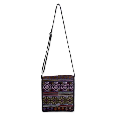 Handmade Hmong Pride Hill Tribe Style Cross Body Messenger Bag (Thailand)