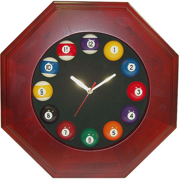 Octagonal Billiards Wall Clock