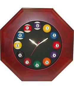 Octagonal Billiards Wall Clock