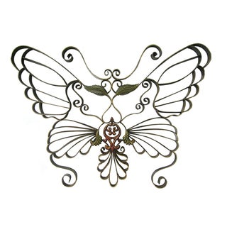 international caravan handwrought metal butterfly wall design 10874130 overstockcom shopping great deals on international caravan accent pieces