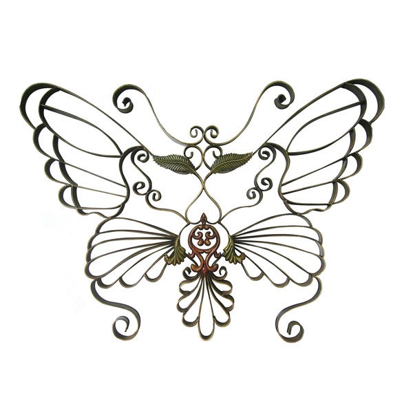 International Caravan Handwrought Metal Butterfly Wall